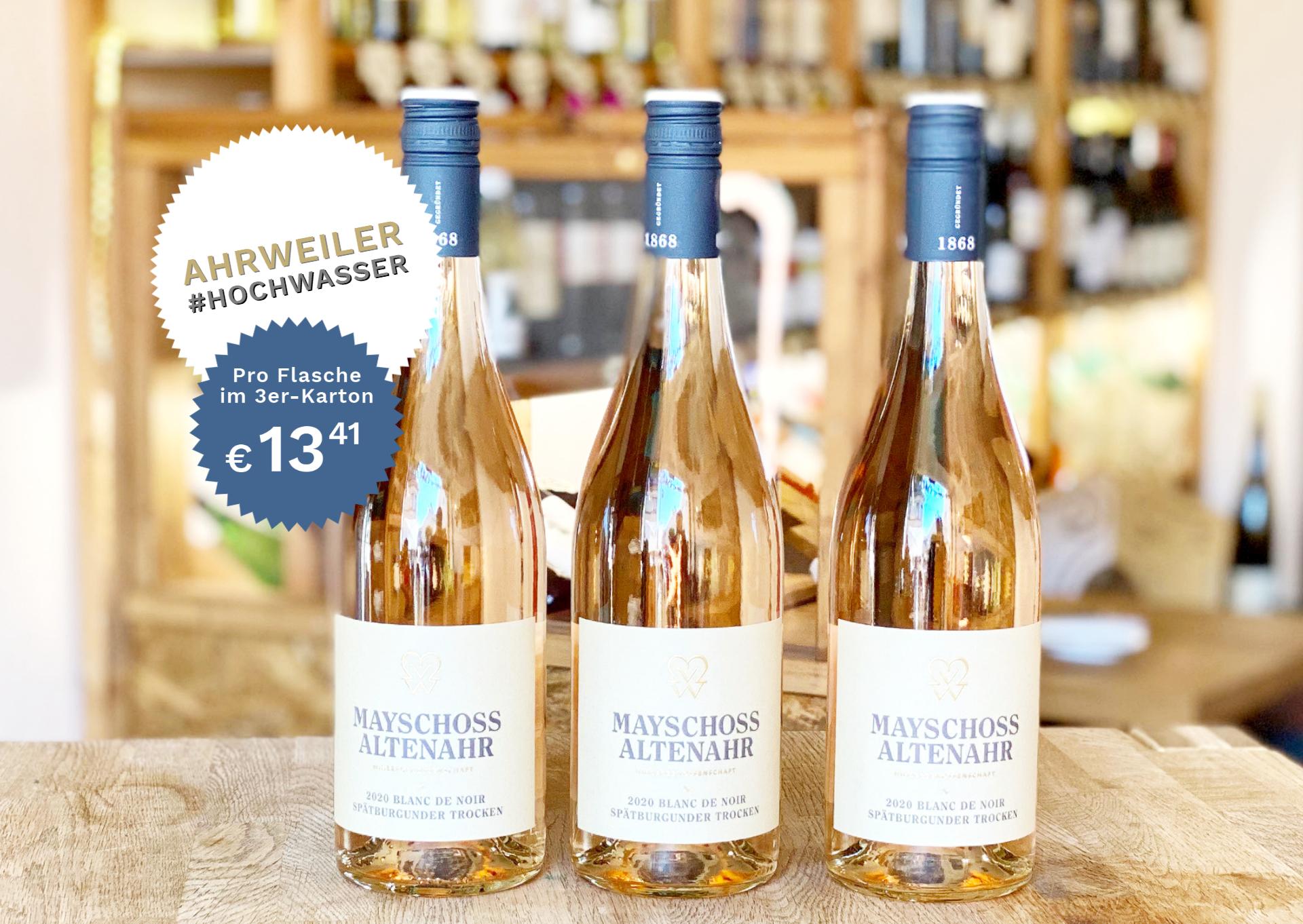3 Flaschen Blanc De Noir von Der Ahr | Mayschoss | 2020 | 0,75 Liter