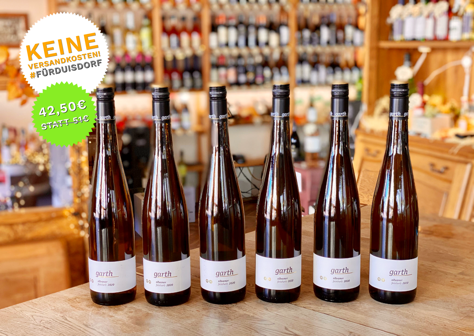 6 Flaschen vom Silvaner 2020 feinherb - Weingut Garth