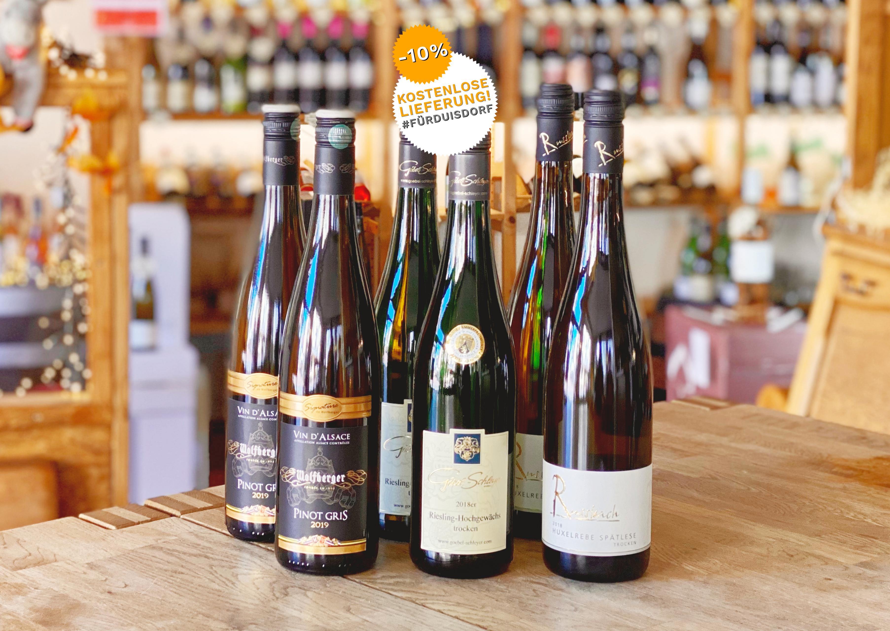 6 Flaschen Weisswein für Spargel - Weingut Wolfberger | Russbach | Göbel-Schleyer