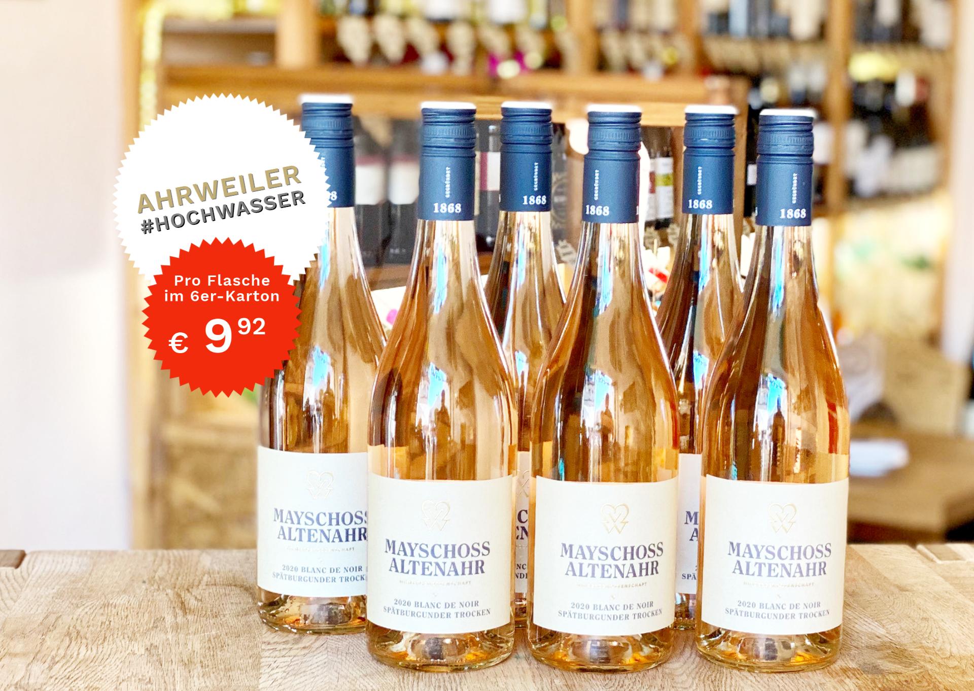 6 Flaschen Blanc De Noir Von Der Ahr | Mayschoss | 2020 | 0,75 Liter