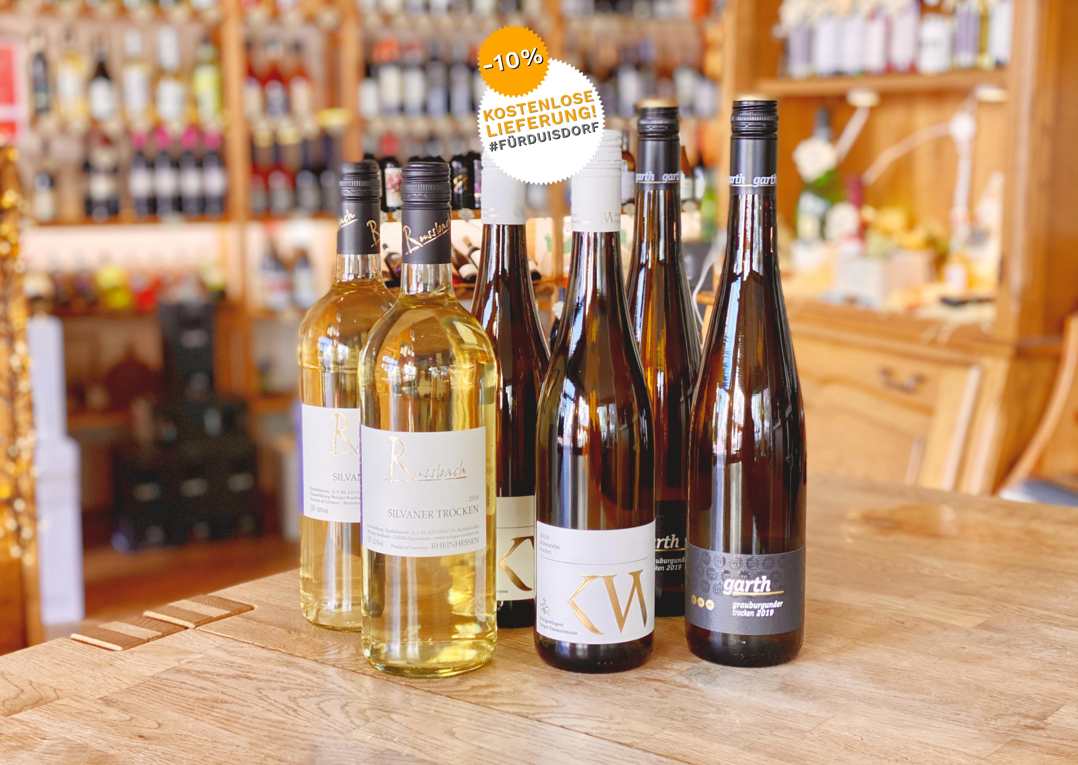 6 Flaschen Weisswein für Spargel - Weingut Garth | Russbach | Königswingert